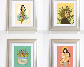 5x7 matted Giclee Print bundle (4 Pack)