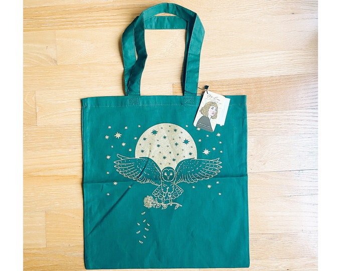 Golden Owl Tote Bag