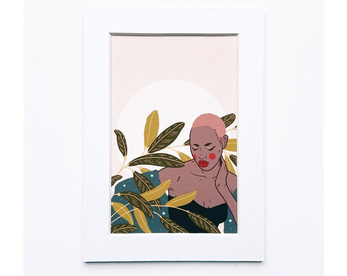 4x6 Giclee print- Portrait of a woman 7