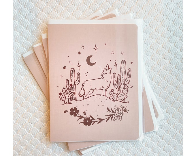 Greeting Cards 4pk- Coyote Desert