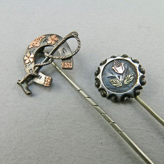 Antique Sterling Horse Shoe Pins massif 9k or Rose Antique Antique Antique EmblishHommes t bijoux accessoires Antique Antique Collectibles 8e2f09