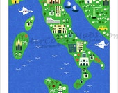 Map Of Italy For Kids.Items Similar To Kids Maps Italy Map For Kids Childrens Maps