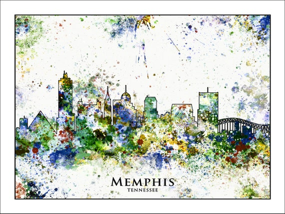 MEMPHIS Skyline Memphis TENNESSEE Map of Tennessee Map of | Etsy
