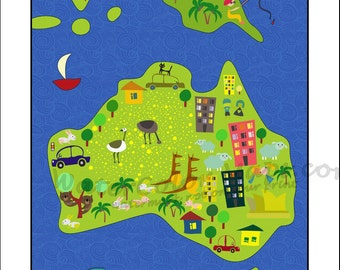 kids maps australia map for kids childrens maps map of australia kids
