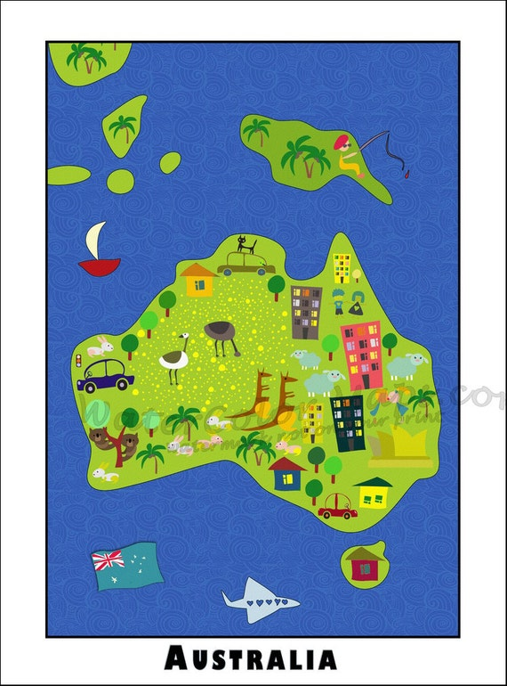 kids maps australia map for kids childrens maps map of