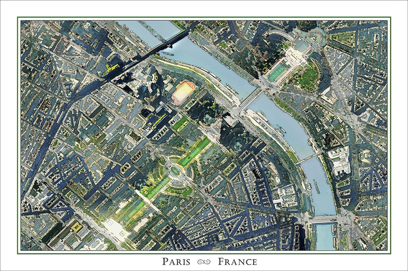 Map Of France Eiffel Tower.Paris Map Of Paris France Map Of France Eiffel Tower Print France Map Eiffel Tower Poster Map Of Europe French Art