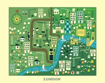 kids maps kids london map childrens maps kids map of london map