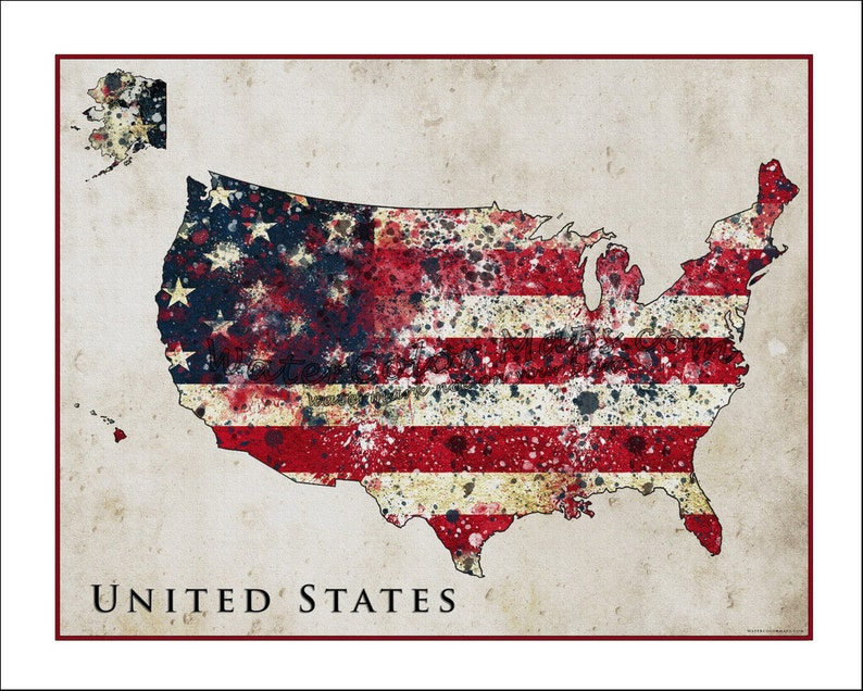 UNITED States Map, Map of USA, American Flag, Flag Map, usa, Fine Art on american revolution bicentennial flag, map of the united states area codes, texas united states flag, map of the united states black, map of the world flag, map of the statue of liberty, map of the philippines flag,