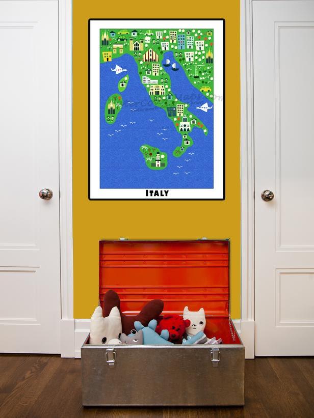 kinder karten italienkarte für kinder kinderkarten  etsy
