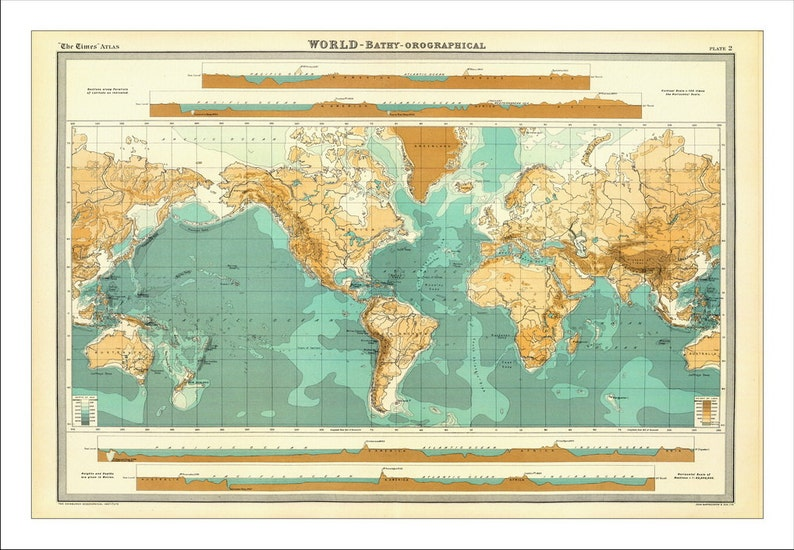 World Map Map Of The World World Map Poster Large World Etsy