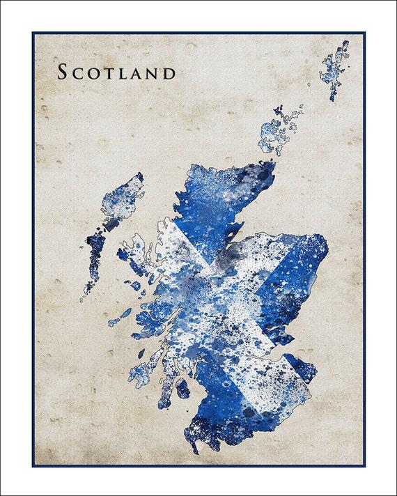 Britain England Map.Scotland Map Map Of Britain England British Map Fine Art Etsy