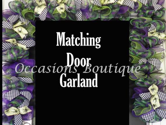 Custom Door Garland Deco Mesh Garland Matching Door Garland Etsy