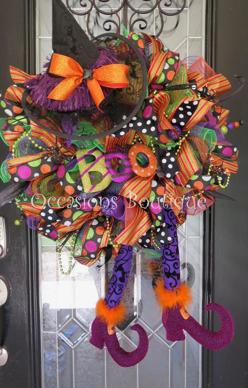 Méchante Sorcière Halloween Couronne Couronne Dhalloween Etsy