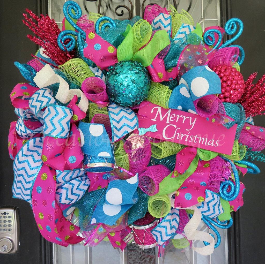 Whimsical Christmas Wreath Non-Traditional Christmas