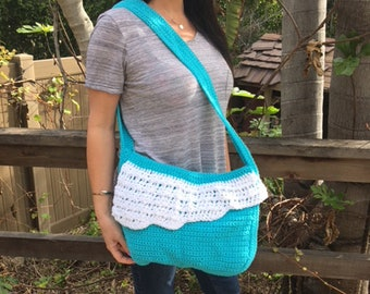 Ocean Waves Crochet Bag
