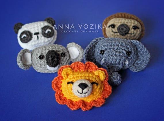 Crochet-A-Day: 9 Crochet Animal Appliqués | Crochet elephant ... | 422x570