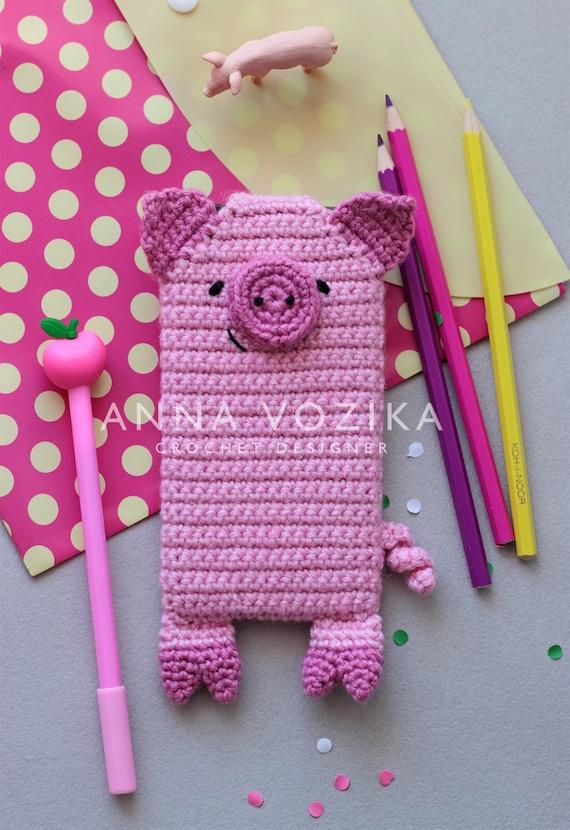 Pig Crochet Pattern Crochet Cell Phone Case Pattern Mobile Etsy