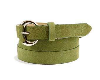 Ceinture verte, ceinture en cuir vert, ceinture en daim, vert womens  ceinture, ceinture en cuir, ceinture verte, ceinture de femmes, cadeau pour  elle f1b30e83444
