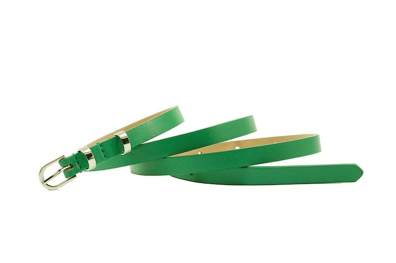 Leather belt waist belt green skinny belt green leather belt green thin belt green belt green dress belt green waist belt dress belt