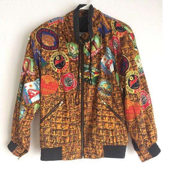 1990s /// Hip Hop Wacky Print Streetwear Travel Bo
