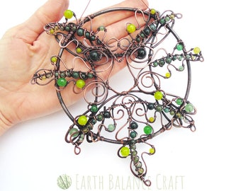 Green Man Decoration, Pagan Ornament, Spirit of the Forest, Folklore Art, Green Man Sculpture, Garden Art, Forest Art, Green Man Plaque