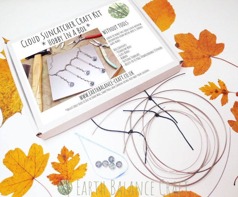 Rain Cloud Craft Kit, NO TOOLS, DIY Hobby Project, How to Make, Wire Cloud  Decoration, Make at Home Kit, Beading Kits