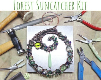 Forest Suncatcher Kit, Hobby in a Box, Crafts Kits, Learn Wire Work, DIY Kit, Make a Suncatcher, Copper Wire Kits, Make Your Own Kit