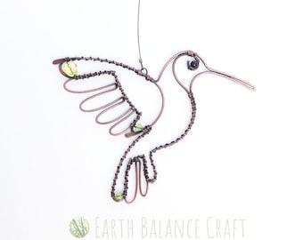 Hummingbird Decoration, Window Hangings, Bird Wall Art, Wire Hummingbirds, Bird Lover Gifts, Decorative Birds, Yard Art, Love Birds