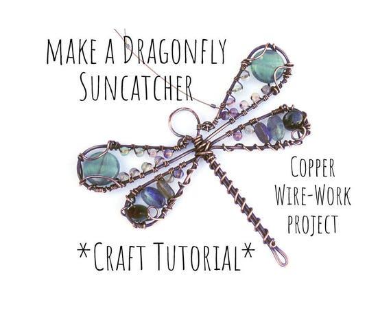 Copper Wire Tutorial, Dragonfly Suncatcher, Beading Tutorial, Wire ...