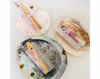 Set positieve energie met schelp