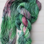 Unicorn mane - dyed to order - DK Cotton Yarn - hand dyed cotton yarn, 100% pima cotton, 100g skein, vegan yarn