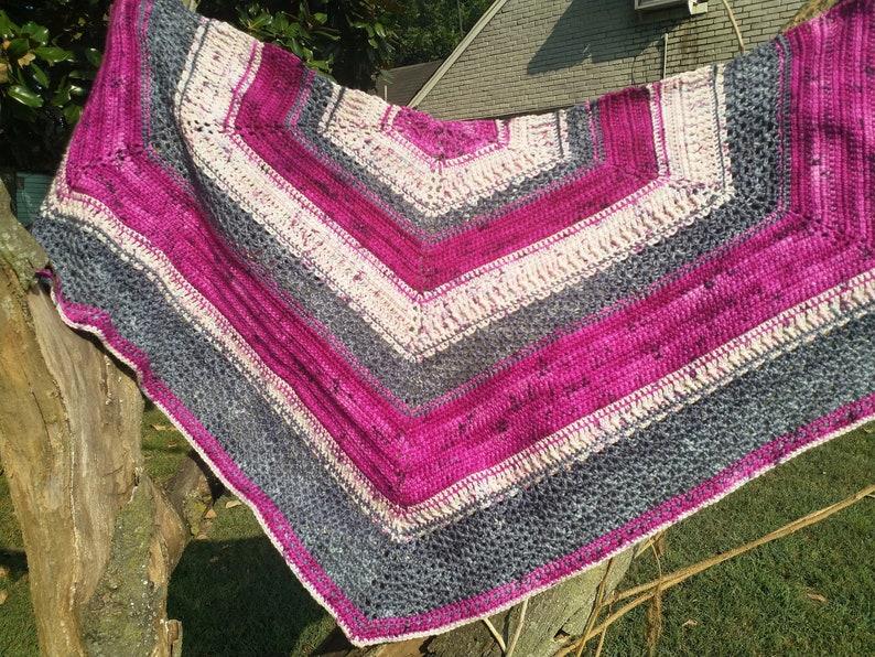 PATTERN  Dragonfruit Shawl  Crochet pattern image 0