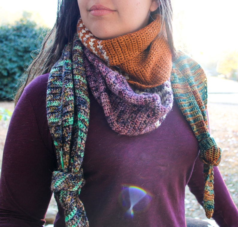 PATTERN  Scrap Wrap / Scarf  Crochet pattern image 0