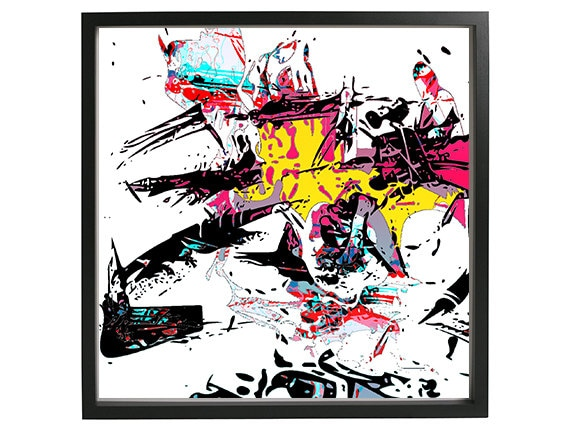 Graffiti Abstract Art Street Art Print Wall Art Cool Colorful Painting Modern Minimal Large Poster Postcards Canvas Digital Mixed Media