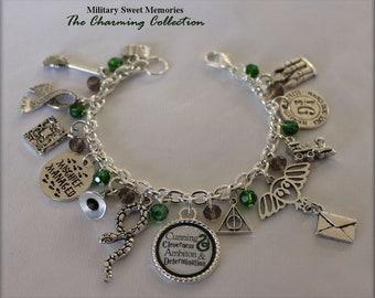 Harry Potter Slytherin book inspired house traits bracelet