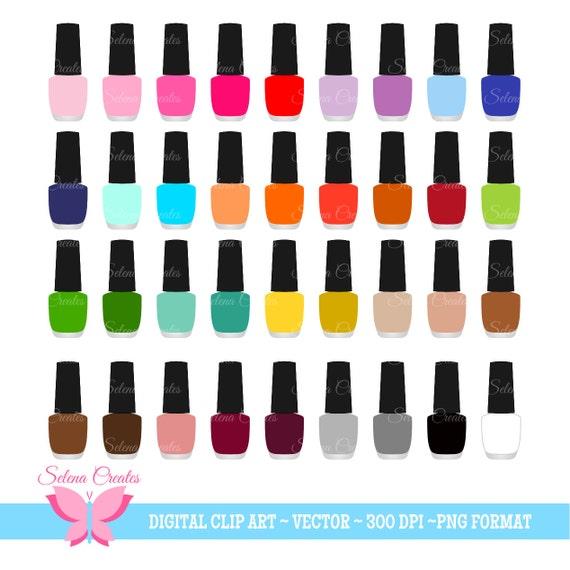 Nail Polish Clipart Set Digital Clipart Nail Color Nail Etsy