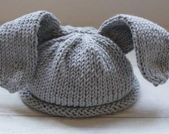 Rabbit knitting pattern - Baby Hat Pattern - Baby Bunny Hat Knitting Pattern  - New Born Baby Hat - Knitting Pattern - Photo Prop - Pattern 2521563de