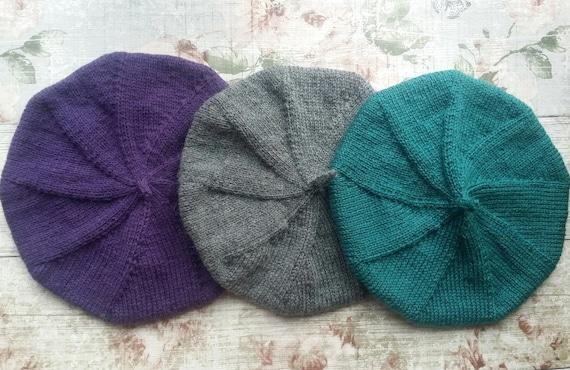 Beret Knitting Pattern Knitted Hat Pattern Beret Tam Pattern