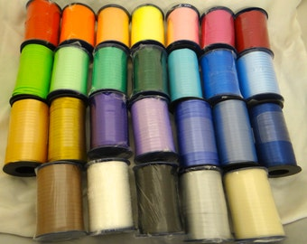 Curling Ribbon Spool Crimped 3/16 500 yards 1500 Feet, Offering 27 colors, for balloons, favors and gifts
