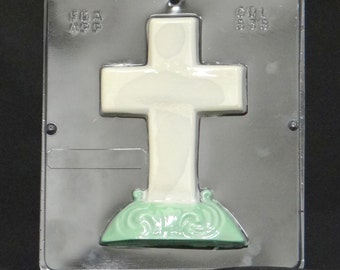 Cross on Base Chocolate Candy Mold Religious 838