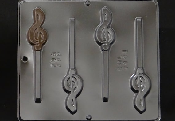 G Clef Musical Lollipop Chocolate Candy Mold 3441 NEW
