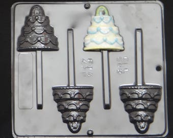 Wedding Cake Lollipop Chocolate Candy Mold Wedding Shower  668