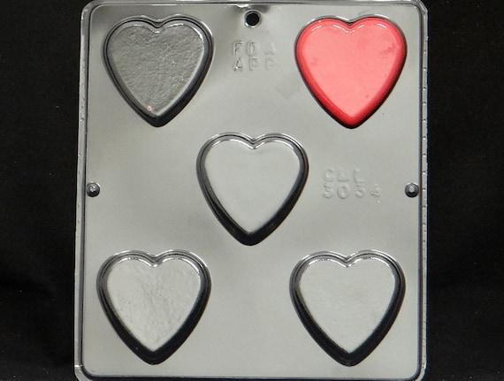 Plain Heart Chocolate Candy Mold Valentine  3034 NEW