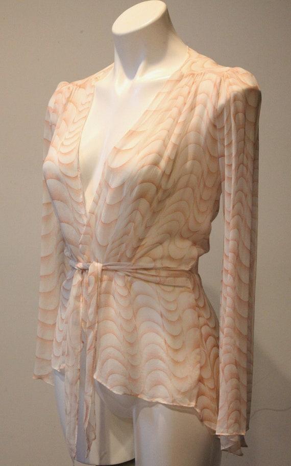 Excellent Condition Vintage 100% Silk Chiffon Blou