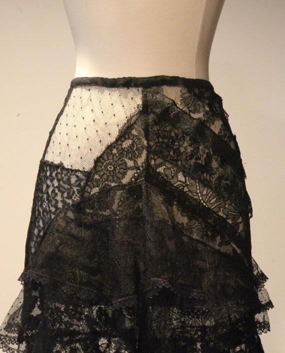 Beautiful Vintage Handmade Lace Skirt-Vintage Lac… - image 4
