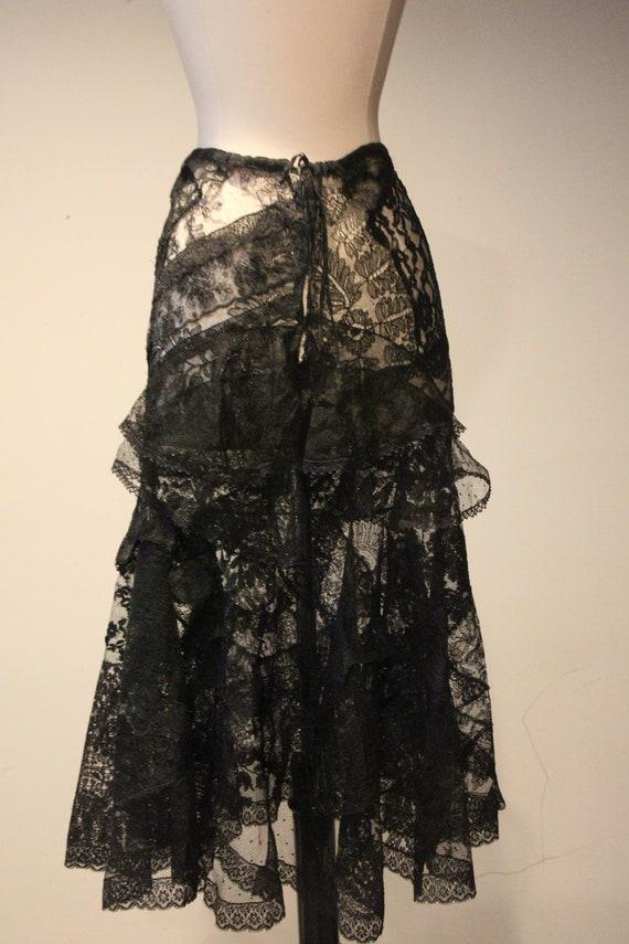 Beautiful Vintage Handmade Lace Skirt-Vintage Lac… - image 7