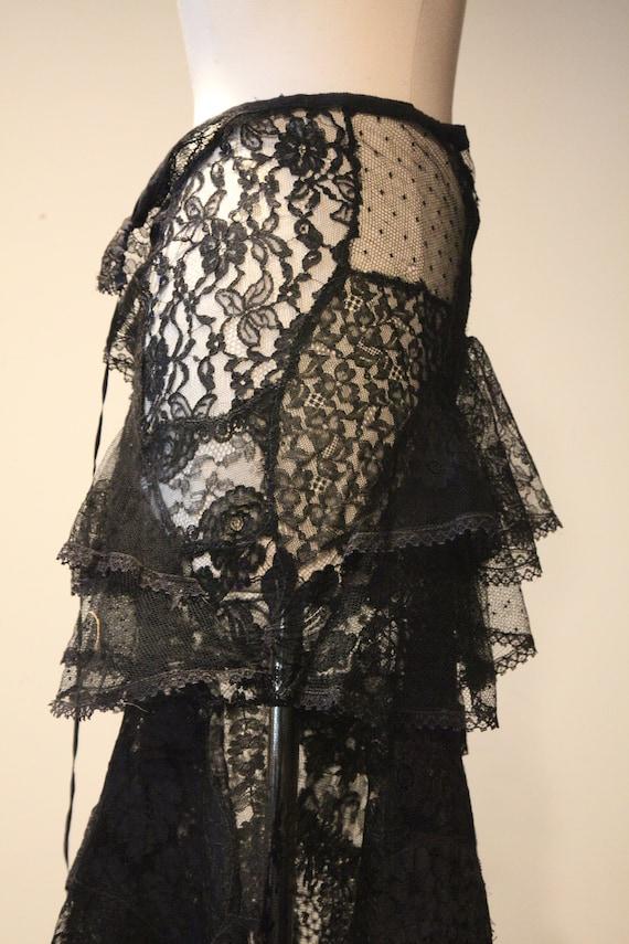 Beautiful Vintage Handmade Lace Skirt-Vintage Lac… - image 9
