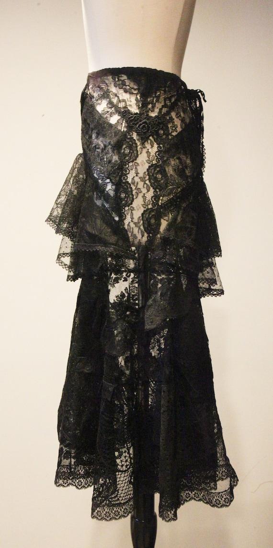Beautiful Vintage Handmade Lace Skirt-Vintage Lac… - image 6