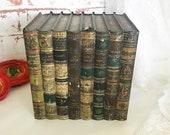 Rare Antique 1901 quot Literature quot Books Tin Litho Box, Vintage Huntley Palmers Biscuit Advertising, Bound bundle set, Decorative, Figural