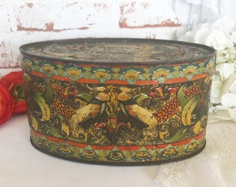 Decorative Arts Ca 1900 Antique Pressed Nice Green Glass Tea Caddy Box Imperial Russian Russia Cultures & Ethnicities